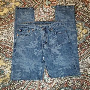 Levi's camo 511 slim fit jeans
